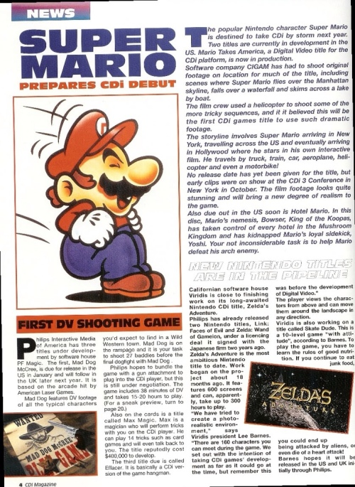Rare Super Mario - Unreleased CD-I Version