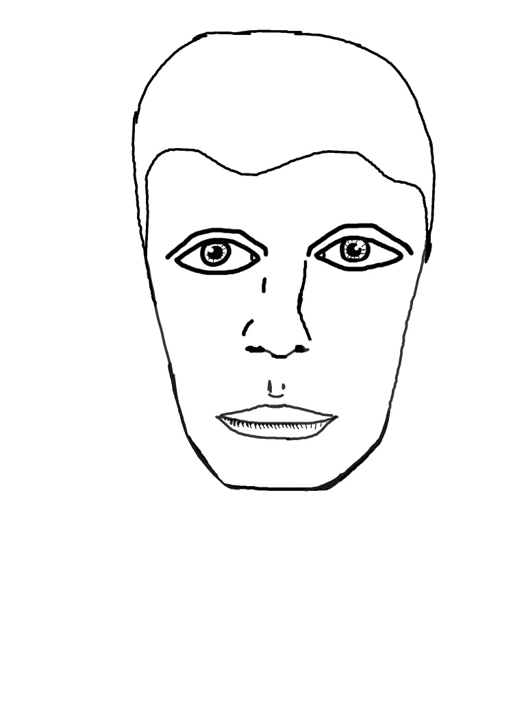 iPad Drawing - Face