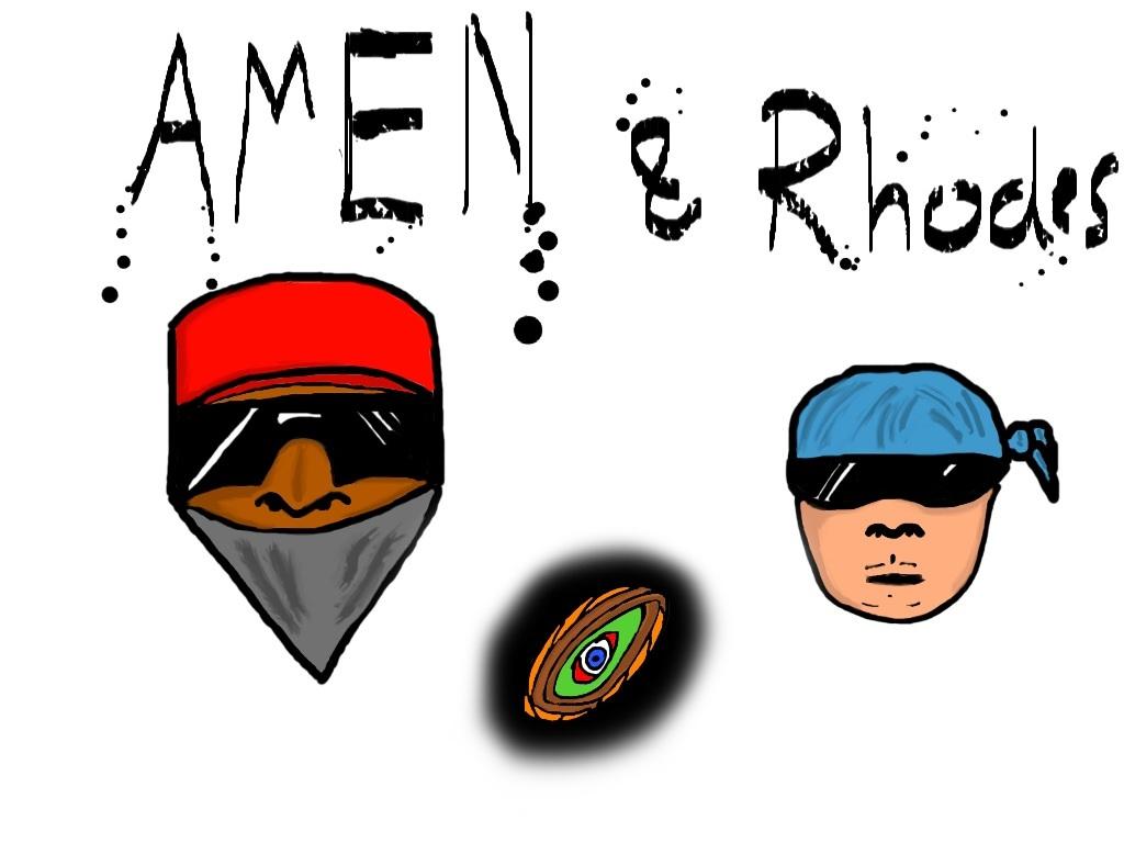 iPad Drawing - Video Game Idea: Amen & Rhodes