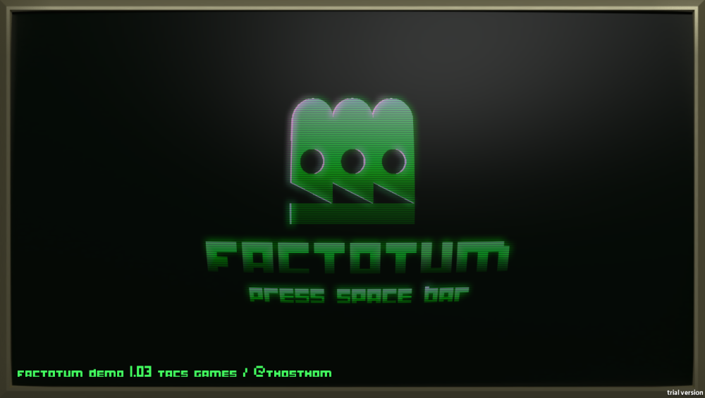 Factotum Menu Screenshot Wii U Dual Screen GamePad