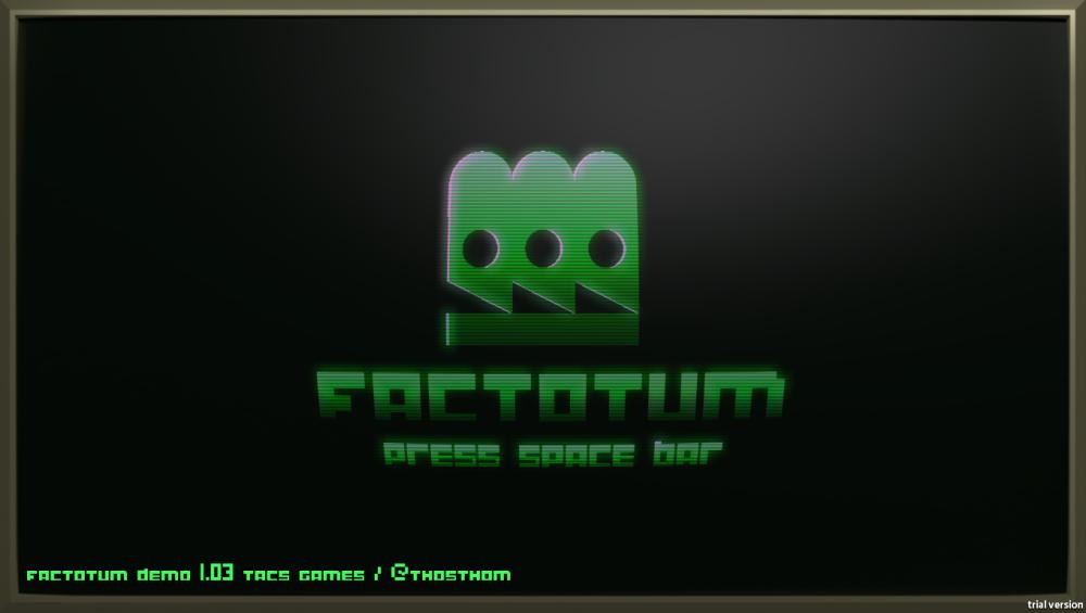 Factotum Menu Screenshot Wii U Dual Screen GamePad